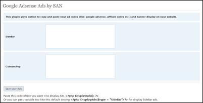 Google Adsense Ads by SAN