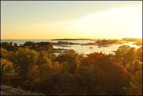 Закат на заливе в Хельсинки